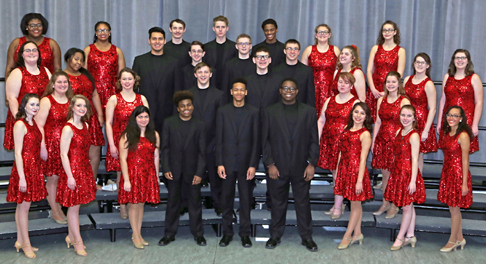 2018 A Capella choir members