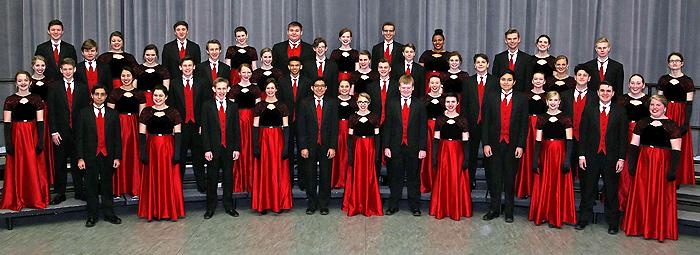 2018 Varsity Singers choir members